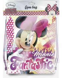 Bolsa gym bag tipo saco con cordones 41cm de Minnie Mouse  (WD17752)